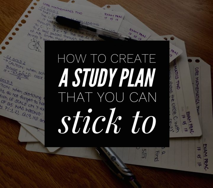 Four Steps To Creating The Perfect StudyPlan