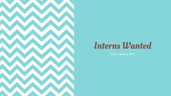 Interns Wanted!!!