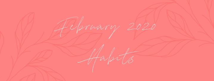My Good And Bad Habits For February 2020
